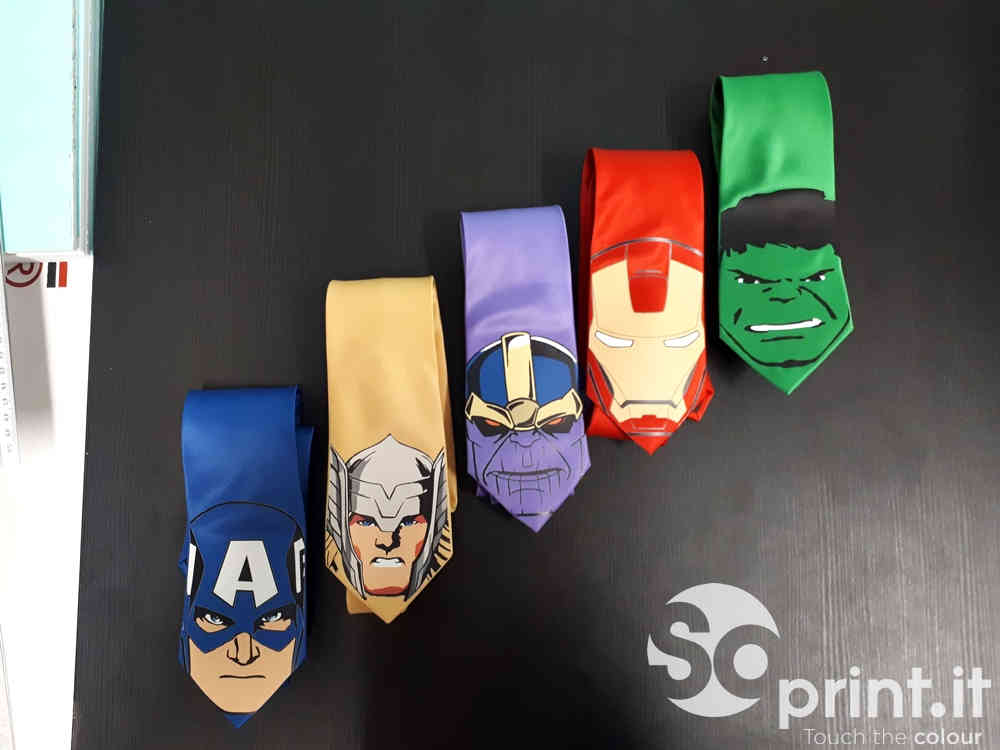 krawaty z nadrukiem (folia flex)